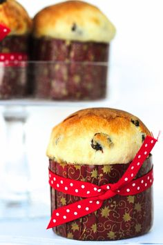 Panettone - a wonderful Italian Christmas tradition. I am English and Panettone is a Christmas tradition for my family. Christmas Cooking, Christmas Desserts, Christmas Treats, Christmas Cakes, Christmas Drinks, Italian Pastries, Italian Desserts, Italian Panettone, Italian Cookies