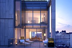 Located between Prince and Spring Streets, and adjacent to the West Village, SoHo and Tribeca, One Vandam is a new condominium building that represents the dynamic intersection of celebrated NYC neighborhoods. Penthouse For Sale, Sweet Home, Pent House, Deco, Land Scape, Foto E Video, Modern Design, Real Estate, House Design