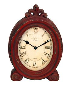 Another great find on #zulily! Red Wood Clock. $28. 3'' W x 8'' H x 3'' D.