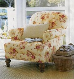 (fiction) Old chair Aubrie finds in attic at Grace Bed & Breakfast in Stillwater Springs, that she moves to her office on the first floor of the house. X