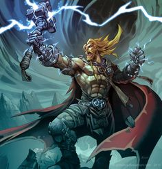 The God of Thunder, in fine art, by Mauricio Herrera