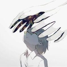 the brightest space in your hand not my eyes Dark Art Illustrations, Illustration Art, Sad Anime, Anime Art, Sun Projects, Arte Obscura, Vent Art, Image Manga, Sad Art