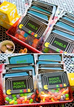Arcade Party #arcadeparty #gamerbirthday #gamerpartyfavors
