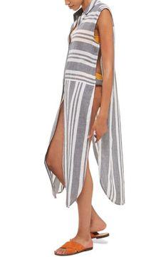 Topshop Topshop Mixed Stripe Maxi Shirtdress available at #Nordstrom