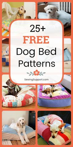 Dog Bed Diy: 25 dog bed and pillow patterns, tutorials, and projects to sew. Instructions for how to make a fabric dog bed. Diy Pet, Diy Dog Toys, Diy Dog Bed, Dog Pillow Bed, Pet Beds Diy, Cute Dog Beds, Dog Beds For Small Dogs, Diy Vanity, Dog Clothes Patterns