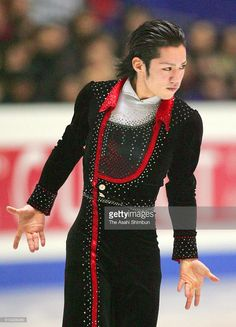 Daisuke Takahashi of Japan competes in the Men's Singles Short Program during day one of the ISU Figure Skating Grand Prix Final at the Yoyogi National Gymnasium on December 16, 2005 in Tokyo, Japan.