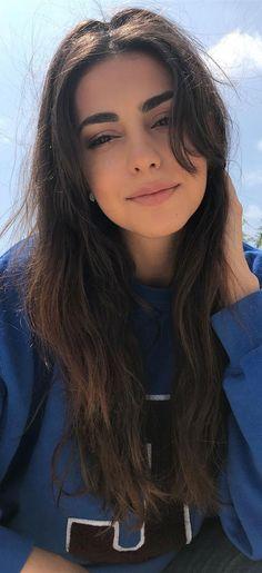Dark Hair Bangs, Bangs With Medium Hair, Long Dark Hair, Medium Hair Styles, Short Hair Styles, Bangs For Long Hair, Long Hair Fringe, Long Hair Haircuts, Soft Bangs