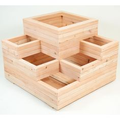 Fat Leaf Large Spiral 6 PLANTERS - 1 Large Raised + 5 Small ...