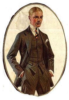 Vintage gentleman printable -J.C.Leyendecker