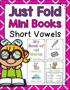 Just Fold! Mini Books {Short Vowels} by A Teeny Tiny Teacher Reading Centers, Reading Fluency, Reading Strategies, Teaching Reading, Guided Reading, Comprehension Activities, Teaching Activities, Teaching Resources, Work On Writing