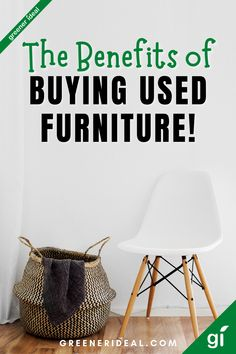 The furniture industry is one of the least sustainable, most pollutive industries on the planet. Each year Americans discard more than 12 million tons of furniture & furnishings, 80 percent of which end up in the landfill! But buying used furniture is often more cost-effective, sustainable, & ethical than purchasing brand new items. Learn all are the Benefits of Buying Used Furniture & help the planet. #Upcycle #Upcycling #Furniture #InteriorDecoration #Reuse #GoGreen #Ecofriendly #Sustainable