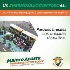 Con 9 parques con pista y equipo de gimnasio al aire libre fomentaremos hábitos saludables en los Hermosillenses #HermosilloConTodo