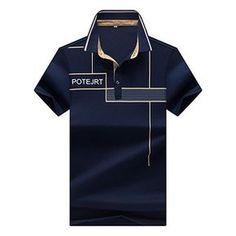 Men's Polo Shirt short-sleeved polo shirt Cozy men cotton Polo casual short-sleeved Diamond lattice Printing