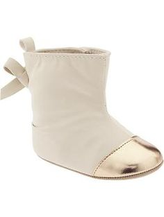 Sueded Cap-Toe Ankle Boots for Baby