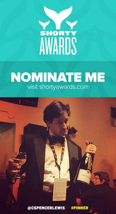 The @ShortyAwards are honoring the best #Pinner on social media. I'd really appreciate your support with a nomination! http://shortyw.in/pinner