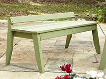 Uwharrie Chair Plaza 2 Seat Outdoor Backless Bench