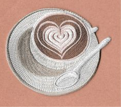 Cappuccino - Coffee - Coffee Break - Coffee Lover - Iron On Applique Patch #Unbranded