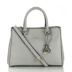 Michael Kors Sutton Saffiano Leather Large Grey Satchels, Your First Choice