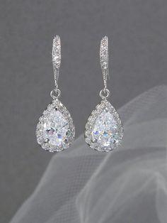 Crystal Bridal earrings Wedding jewelry by CrystalAvenues on Etsy