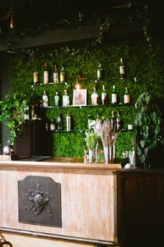Ivy covered bar | Photography: Sorella-Muse - www.sorella-muse.com/ Read More: http://www.stylemepretty.com/living/2014/09/04/girls-night-out-cocktail-class/