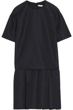 Victoria, Victoria Beckham|Layer-effect pleated cloqué mini dress