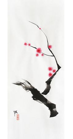 sping sumi-e  by: 7e55e  #art