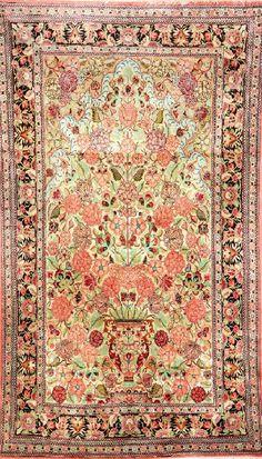 Silk Qum Rug, Persia, circa 40 years old, pure silk, approx. 180 x 106 cm