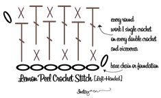 Lemon Peel Stitch (LeftHanded) – Crochet Pattern