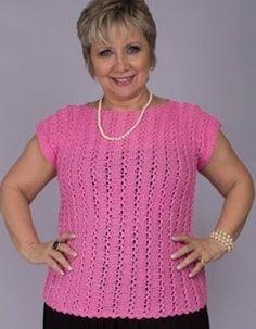 Blusa rosa em tricô