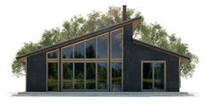House Plans in Modern Architecture. Modern Lake House, Modern Barn, Modern House Design, Contemporary House Plans, Modern House Plans, Building A Shed, Building Design, Shed Homes, Barn Homes