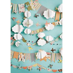 Cloudy Day Airplanes Photo Backdrop by PepperLu on Etsy
