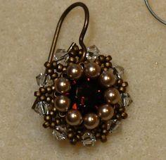 Sidonia's handmade jewelry - Vintage Swarovski beaded earrings