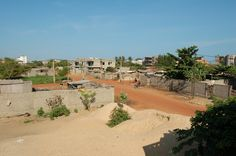 Benin view of a town