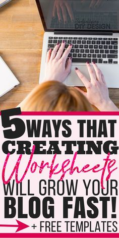 If you haven't started making printables and worksheets of your website then you are seriously missing out! Here's exactly how you can make free worksheets to actually grow your blog and the easiest way to make them! (plus free editable templates!!)