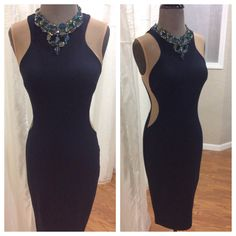 JAX Look of the Day!                                If you are looking for a dress with a wow factor, you need this new Bailey 44 dress!! We added a little extra wow to the navy and sheer illusion sided dress with an amazing iridescent crystal necklace from Cayetano Legacy Collection. #jaxhaddonfield #jaxboutique #lookoftheday #bailey44 #cayetanolegacy @bailey44snaps @clc_philly
