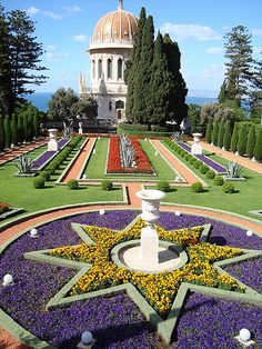 Haifa, Isreal. The Baha'i' shrine. Beautiful!