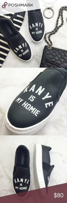 Kanye Slip On Sneakers Details: • Size 38/7.5 • True to size • Brand new in box   07151601 ELEVENPARIS Shoes Sneakers