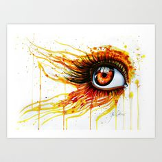 """On fire"" Art Print by PeeGeeArts - $25.00"