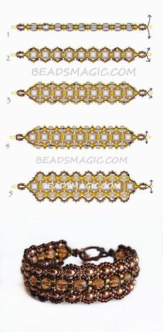 Free pattern for necklace Dark Honey | Beads Magic