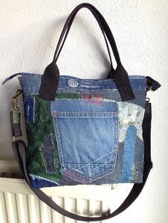 25% off Bangkok bag tote bag patchwork bag two от HelenBudniatsky