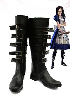 Alice boots   https://www.etsy.com/listing/186748329/alice-madness-returns-cosplay-black