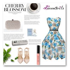 """""""SevenGrils 3"""" by miincee ❤ liked on Polyvore featuring Valentino, Marc Jacobs, Bobbi Brown Cosmetics and vintage"""