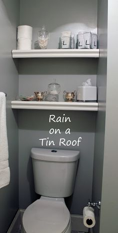 DIY Shelves above the toilet - Finish with Flat Edge