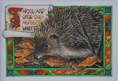 Shakespeare Series 'Thrice and Once the Hedgepig Whin'd' Macbeth by Debby Faulkner-Stevens http://www.bwthornton.co.uk/debby-faulkner-stevens.php