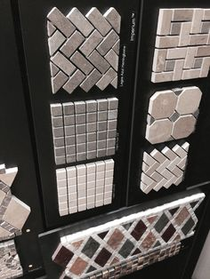 """WZ.  I find these two lower left mosaics to work very well... especially on shower floors so it's not slippery. Darker one is a great mushroom color that I use a lot and goes with everything: SI Lagos Azul 5/8 Item# 2MSIMLAZ.  Also I have a larger 1 x 1 sample --different manufacturer, but same color (mushroom) """"Par Flannel"""" mosaic  item code 2PARFLA1x1"""