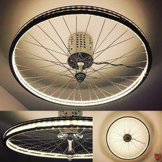 Upcycling of a bicycle rim with a 5m LED strip by JayKay67Design - Jürgen Klöck