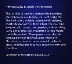 Roman catholic catechism homosexuality