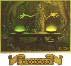 "JRR Tolkien Calendar - 1978 - Illustrations by the brothers Hilderbrandt // ""Treebeard"""