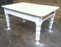 Commission work - half way through on a Victorian Kitchen Farmhouse Table