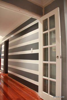 For the playroom-black carpet-black stripes use chalkboard paint.